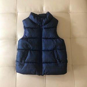 Fleece lined down vest